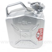 PH37.080 Steel Jerry fuel can from the Paddy Hopkirk Mini range finished in silver