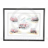 Paddy Hopkirk - Andy Danks Montage Print - 1990 - Signed by Paddy Hopkirk
