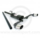 Sportex Dual Exit Single Silencer Exhaust System - Oval Tailpipes