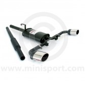 Sportex Dual Exit Twin Silencer Exhaust System - Oval Tailpipes