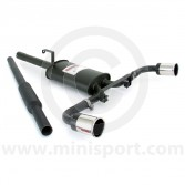Sportex Dual Exit Twin Silencer Exhaust System - 3'' Tailpipes