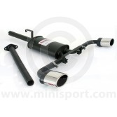 Sportex Dual Exit Exhaust System - Oval Tailpipes - Catalyst removal