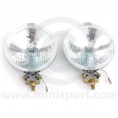 Wipac Classic 5 1/2  Chrome Fog Lamps with covers