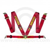 Sabelt Saloon Series 4 Point Harness - Steel Buflug Adjusters - Red