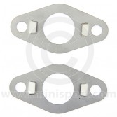smb169 Pair of front subframe tower bolt lock tabs (21A1470) in stainless steel for all Mini models pre 1976.