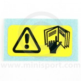 SMB32 Mini refer to handbook warning label