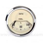 BT2240-05C Smiths Oil Temperature Gauge magnolia face & chrome bezel