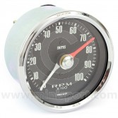 SMIRVC1004-00CA Smiths Classic 10000RPM Rev Counter with 80mm black face and chrome bezel.
