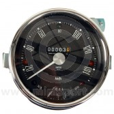 SN4421-01SAB Smiths 140Kph Mini Speedo Black Face