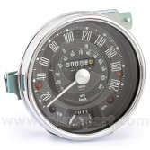 SMISN4421-33B Smiths Classic Mini Speedometer, 0-200 km/h 140mm, mechanical with black face and chrome bezel for Cooper S models '63-'71