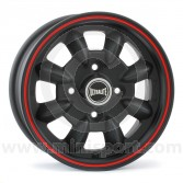"5 x 12"" Ultralite Mini Wheel - Black with Red Pinstripe"