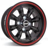 "7 x 13"" Ultralite Mini Wheel - Black with Red Pinstripe"