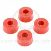 SPDSP655 Poly Mini suspension tie rod bush kit - red set 4