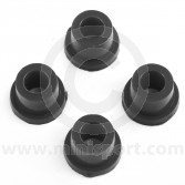 SPDSP657BLK Poly Mini suspension bottom arm bushes - black set of 4