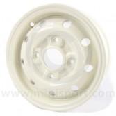 """SPDSR-011-W Mini Cooper S Replica Alloy Wheel - 4.5'' x 10"""" - White"""