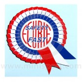 Safety Fast Rosette Sticker