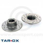 Brake Discs - Tarox Sport Japan - X-Drilled & Grooved - Mini 1984 on pair