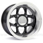 6 x 10 Mamba Wheel - Black/Polished rim