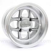 6 x 10 Mamba Wheel - Silver with polished rim