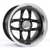 6 x 12 Mamba Wheel - Black/Polished Rim