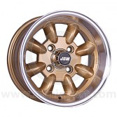 6 x 12 Minilight Wheel - Gold/Polished Rim