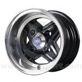 6 x 10 Revolite Wheel - Black/Polished Rim