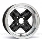 7 x 13 Revolite Wheel - Black/Polished Rim