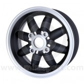 5 x 12 Rose Petal Wheel - Matt Black/Silver Rim
