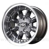 7 x 13 Superlight Split Rim Wheel - Gunmetal/Polished Rim