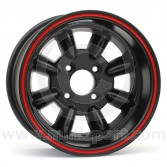 7 x 13 Superlight Wheel - Black/Red Rim