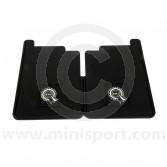 WRRP029 Mini Rear Mudflap - Rubber - White BMC Rosette Logo - Pair