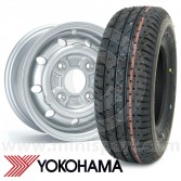 "4.5"" x 10"" silver alloy Cooper S replica wheel and Yokohama A008 tyre package"