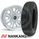 "5"" x 12"" silver Ultralite alloy wheel and Nankang tyre package"