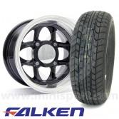 """6"""" x 10"""" Mamba in Black - Falken FK-07E Tyre Package"""