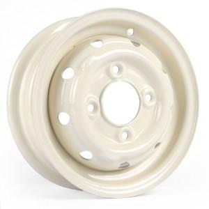 "Cooper S 3.5"" x 10"" Steel Wheel - Old English White"