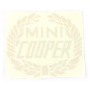 Mini Cooper Wreath Laurel Decal - Silver
