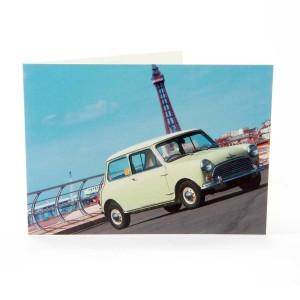 Greetings Card with Morris Mini Cooper S Image