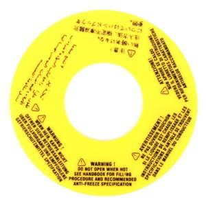 MPI Coolant Tank Warning Label - Cooper