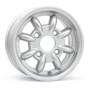 4.5 x 10 Minilight Wheel - Silver - Drum Brakes