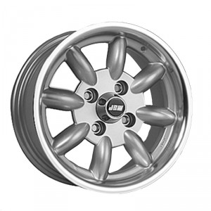 6 x 13 Minilight Wheel - Silver/Polished Rim