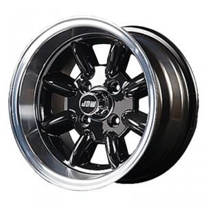 7 x 13 Minilight Wheel - Black/Polished Rim