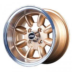 7 x 13 Minilight Wheel - Gold/Polished Rim