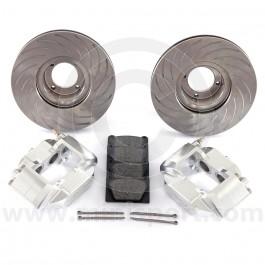 Mini 4 pot silver alloy caliper brake kit