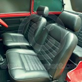 Seat Covers F/R Fixed Back - Front Foams & Diaphragms - Cloth Black - Mini 73-75