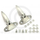 BMB36002/3 Pair of Mini boot lid hinges, finished in bare metal perfect for painting. Non Genuine (HMP441031)