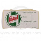 CASSTR701 Mini Castrol Classic A-Post Service Sticker