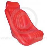 Cobra Classic Seat inc. Headrest - Red
