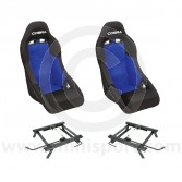 Cobra Clubman Seat Package - Black/Blue Centre