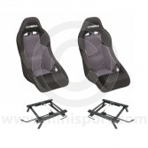 Cobra Clubman Seat Package - Black/Grey Centre
