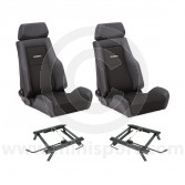Cobra Le Mans Seat Package - Black